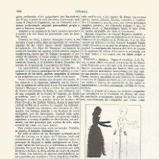 Coleccionismo: LAMINA ESPASA 13516: SARAH BERNHARDT CON TEATROS DE SOMBRAS. Lote 95975087
