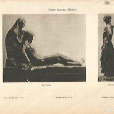 Coleccionismo: LAMINA ESPASA 22402: LA PIEDAD Y GITANA POR P. TORRE ISUNZA. Lote 95975178