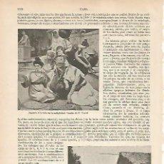 Coleccionismo: LAMINA ESPASA 22623: JUGANDO A LA TABA EN LA ANTIGUEDAD POR E. VASARI. Lote 95975210