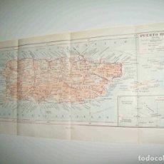 Coleccionismo: LAMINA ESPASA 23111: MAPA DE PUERTO RICO. Lote 96040554