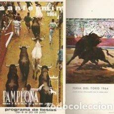 Coleccionismo: SAN FERMÍN 1964. PAMPLONA. PROGRAMA DE FIESTAS. Lote 96044563