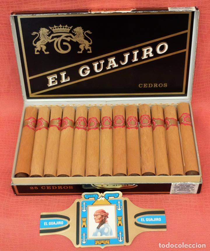 CAJA COMPLETA CON 25 CEDROS DE LA MARCA EL GUAJIRO (Coleccionismo - Objetos para Fumar - Otros)