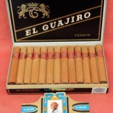 Coleccionismo: CAJA COMPLETA CON 25 CEDROS DE LA MARCA EL GUAJIRO. Lote 96142471