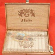 Coleccionismo: CAJA COMPLETA CON 25 CIGARROS DE LA MARCA EL GUAJIRO Nº 1. CON PRECINTO. Lote 96144539