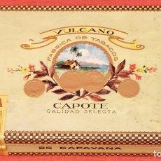Coleccionismo: CAJA COMPLETA Y PRECINTADA CON 25 COPAVANA DE LA MARCA VULCANO . CAPOTE . Lote 96146019