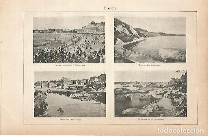 LAMINA ESPASA 22221: BIARRITZ (Coleccionismo - Laminas, Programas y Otros Documentos)