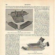 Coleccionismo: LAMINA ESPASA 16619: MAQUINA DE ESCRIBIR OLIVER. Lote 96197062
