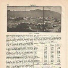 Coleccionismo: LAMINA ESPASA 4277: VISTA GENERAL DE CARACAS VENEZUELA. Lote 96201547