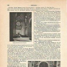 Coleccionismo: LAMINA ESPASA 14249: CATEDRAL DE CHARTRES. Lote 96219595