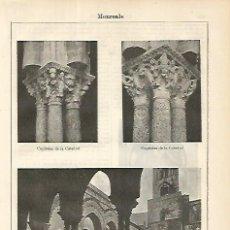 Coleccionismo: LAMINA ESPASA 8559: CATEDRAL DE MONREALE ITALIA. Lote 96277418