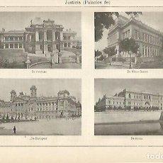 Coleccionismo: LAMINA ESPASA 6330: PALACIO DE JUSTICIA DE BRISBANE MINAS GERAES BUDAPEST Y ROMA. Lote 96286079