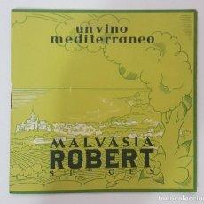 Coleccionismo: BODEGAS ROBERT SITGES LIBRETO PUBLICITARIO MALVASIA ROBERT UN VINO MEDITERRANEO 11 X 11CM.. Lote 96385255