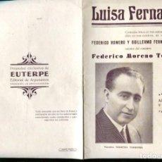 Coleccionismo: FOLLETO PROPAGANDA LUISA FERNANDA. Lote 96420686