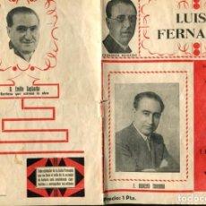 Coleccionismo: FOLLETO PROPAGANDA LUISA FERNANDA. Lote 96420747