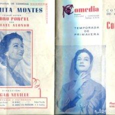 Coleccionismo: FOLLETO PROPAGANDA COMPAÑIA CONCHITA MONTES. Lote 96420934