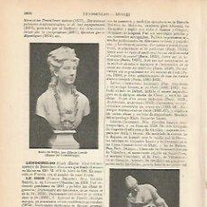 Coleccionismo: LAMINA ESPASA 9149: ESCULTURAS HECHAS POR LENOIR. Lote 96564376