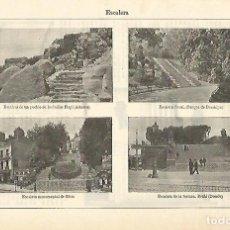 Coleccionismo: LAMINA ESPASA 16554: ESCALERAS DE JARDINES. Lote 96574744