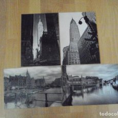 Coleccionismo: LOTE DE 4 LAMINAS DE 29X20 EN BLANCO Y NEGRO DE NUEVA YORK Y AMSTERDAN. Lote 96580679