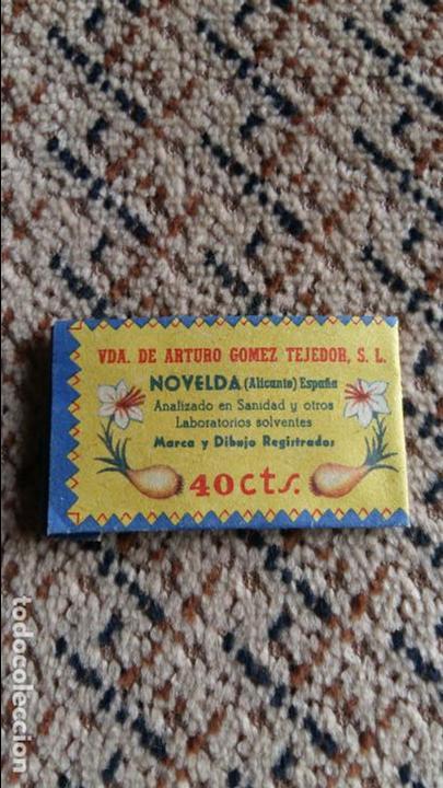 Coleccionismo: SOBRECITO DE ADITIVO COLORANTE SALSAFRAN. NOVELDA ALICANTE - Foto 2 - 96599035