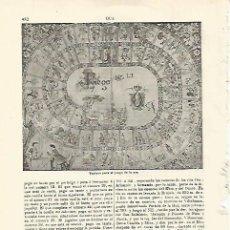 Coleccionismo: LAMINA ESPASA 21270: JUEGO DE LA OCA. Lote 96669168