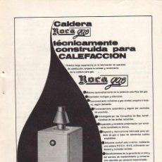 Coleccionismo: ANUNCIO PUBLICIDAD CALDERAS ROCA. Lote 96802555