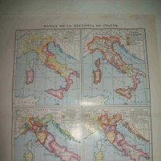 Coleccionismo: LAMINA ESPASA 20898: MAPAS DE LA HISTORIA DE ITALIA. Lote 96822688