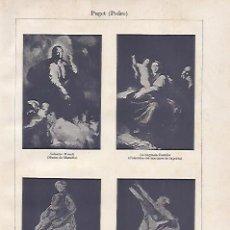 Coleccionismo: LAMINA ESPASA 21082: OBRAS DE PEDRO PUGET. Lote 96887040