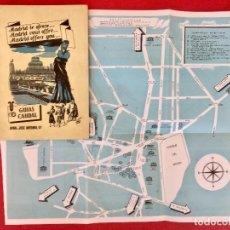 Coleccionismo: HOTEL REGENTE 1930 GUIA TURISTICA Y PLANO DE MADRID ILUSTRADA POR BALONGA CASSAR GUIAS CAUDAL. Lote 96909167