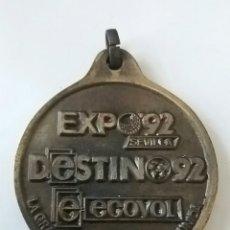 Coleccionismo: EXPO 92 SEVILLA MEDALLA ECOVOL. Lote 97294307