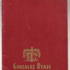 Coleccionismo: GONZALEZ BYASS. CATÁLOGO / PRESENTACIÓN (T/4). Lote 97414587