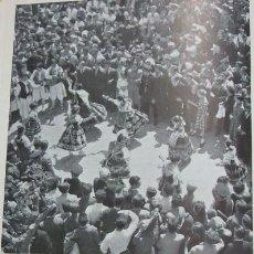 Coleccionismo: MURCIA BAILES POPULARES ANTIGUA LAMINA HUECOGRABADO AÑOS 40. Lote 97456891
