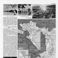 Coleccionismo: MAPA VIETNAM DEL NORTE Y SUR - Nº 00.011 - LÁMINA.- 26 X 21 CMTS.- HOJA PROCEDE DE LIBRO. Lote 97522059