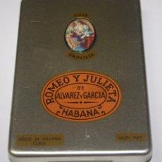 Coleccionismo: CAJA METALICA DE PUROS ROMEO Y JULIETA. Lote 97627763