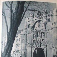Coleccionismo: BURGOS ARCO DE SANTA MARIA ANTIGUA ANTIGUA LAMINA HUECOGRABADO AÑOS 40. Lote 97712535