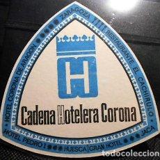 Coleccionismo: POSAVASOS CADENA HOTELERA CORONA. NUEVO. Lote 98128335