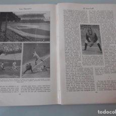 Coleccionismo: EL BASE-BALL Y EL CRICKET - 19PÁGINAS TEXTOS Y LAMINAS Nº 60.434 PROCEDE DE LIBRO + 70 AÑOS . Lote 98192687