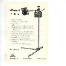 Coleccionismo: AÑO 1955 RECORTE PUBLICIDAD MEDICINA FARMACIA RADIOLOGIA RX APARATO PORTATIL ARA RADIOGRAFIA PANTALL. Lote 98196311