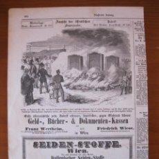 Coleccionismo: DEMOSTRACIÓN PRÁCTICA DE CAJAS DE SEGURIDAD METÁLICAS CONTRA LOS INCENDIOS, 1854.. Lote 98512551