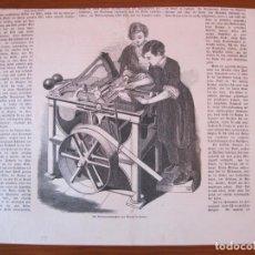 Coleccionismo: MAQUINA DE ENVOLVER CARTAS, 1859.. Lote 98512759