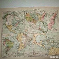 Coleccionismo: LAMINA ESPASA 23670: MAPAS DE LA HISTORIA DE AMERICA. Lote 98600031