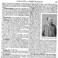 Coleccionismo: LÁMINA ESPASA Nº 12.639: ALFREDO I,DUQUE DE SAJONIA-COBURGO-GOTHA,NACIÓ 1844. Lote 98690959