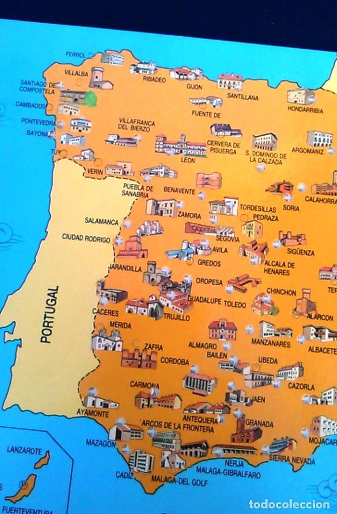 Lamina Mapa Paradores De Turismo De Espana 1991 Sold Through