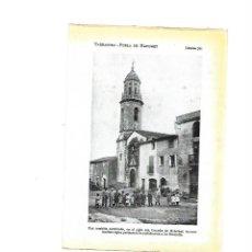 Coleccionismo: AÑO 1922 LAMINA FOTOGRAFICA TIPO POSTAL FOTOGRAFIA POBLA DE MAFUMET TARRAGONA MONTOLIU. Lote 98807263
