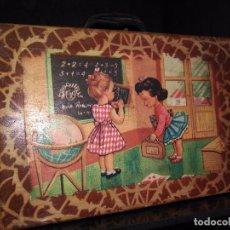 Coleccionismo - cartera niña colegio años 60 litografiada en buen estado - 98828695