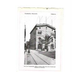 Coleccionismo: AÑO 1922 LAMINA FOTOGRAFICA TIPO POSTAL FOTOGRAFIA BADALONA AYUNTAMIENTO TRANVIA TREN. Lote 98910071