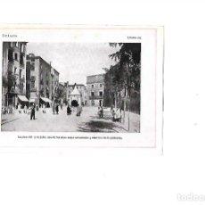 Coleccionismo: AÑO 1922 LAMINA FOTOGRAFICA TIPO POSTAL FOTOGRAFIA IGUALADA PLAZA DEL 17 DE JULIO. Lote 98910331