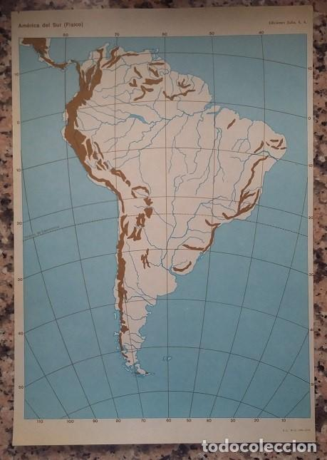 mapa de america del sur fisico. ediciones zulia - Kaufen Alte ...