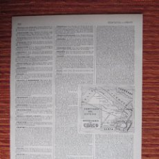 Coleccionismo: 1900C-CHACO.SANTIAGO DEL ESTERO.ARGENTINA.BOLIVIA.PARAGUAY. MAPA. PLANO. ENCICLOPEDIA SEGUI.ORIGINAL. Lote 99435583