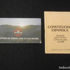 Coleccionismo: CONSTITUCIÓN 1978, SOBRE INSTRUCCIONES Y 8 PAPELETAS REFERENDUM CONSTITUCIONAL 1978. Lote 100029227