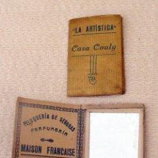 Coleccionismo: ANTIGUO ESPEJITO CON ALMANAQUE PARA 1928 PUBLICIDAD PELUQUERÍA PERFUMERÍA MAISON FRANCAISE, VALENCIA. Lote 100238307